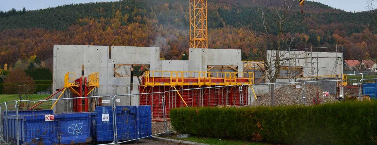 Construction de l'extension du gymnase