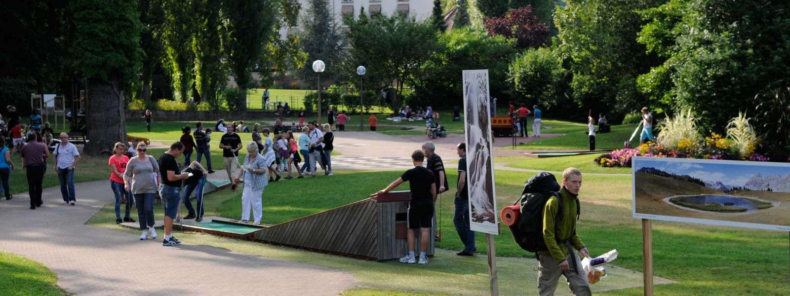 Golf sur piste, jeu ludique entre amis